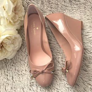 ▪️kate spade▪️Nude Patent Leather Wedges▪️NIB